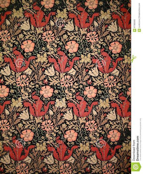 Old William Morris Wallpaper Stock Image   Image of ...