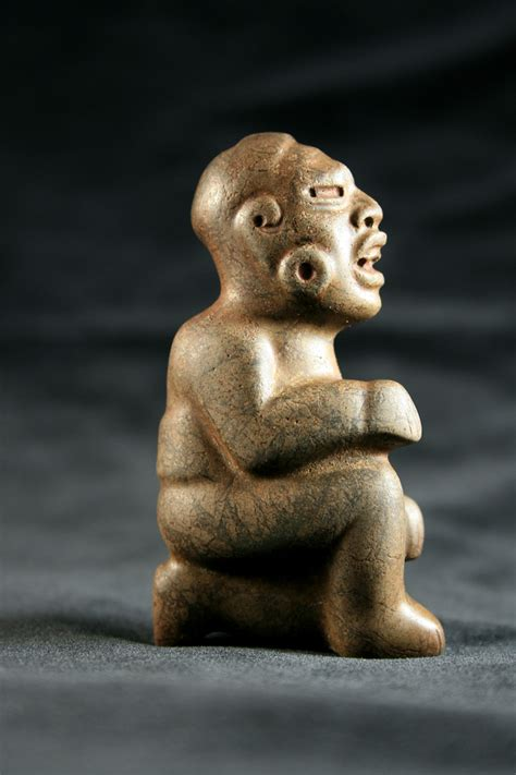 Olmec Stone Sculpture of a Kneeling Figure   DAC.072 For ...