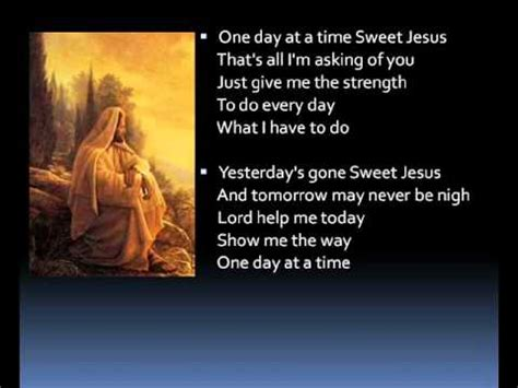One day at a time  lyrics    YouTube