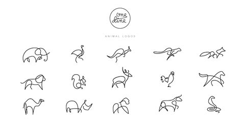 One Line Animal Logos – Gracefully Drawn by DFT  Differantly