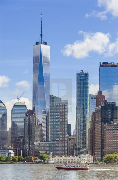 One World Trade Center,One WTC, lower Manhattan skyline ...