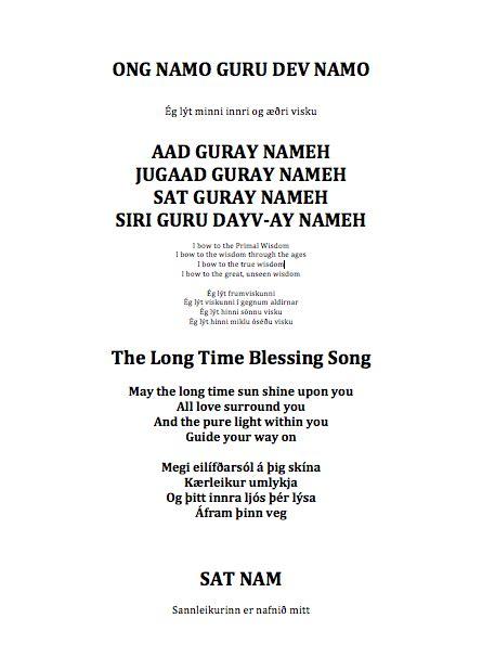 Ong Namo Guru Dev Namo, Aad Guray Nameh, Long Time ...