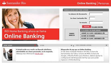 Online Banking Santander Rio