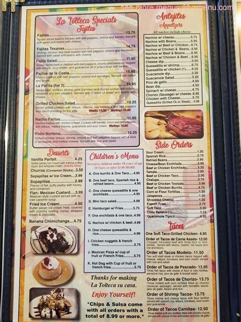 Online Menu of La Tolteca Mexican Restaurant Restaurant ...