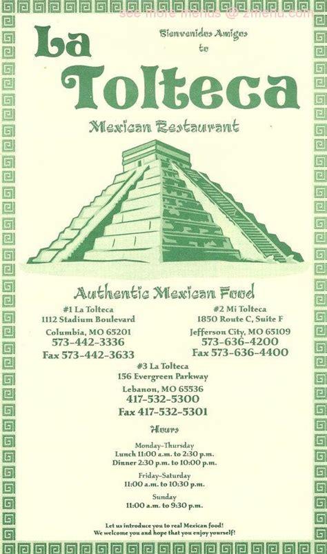 Online Menu of La Tolteca Restaurant, Lebanon, Missouri ...
