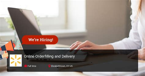 Online Orderfilling and Delivery at Walmart in ...