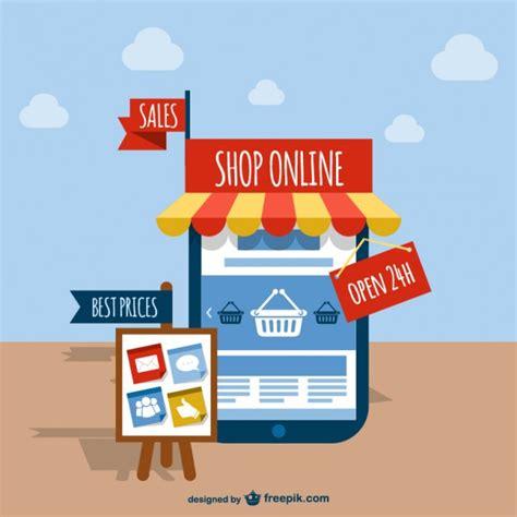 Online shop vector | Gratis Vector