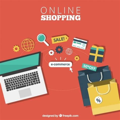 Online shopping Vector | Free Download
