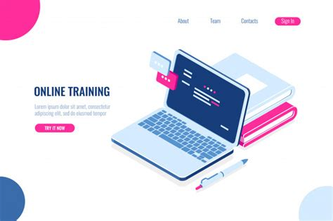 Online training | Gratis Vector