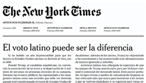 [OP ED]: NYTimes Editorial in Spanish? Well, perhaps it's ...