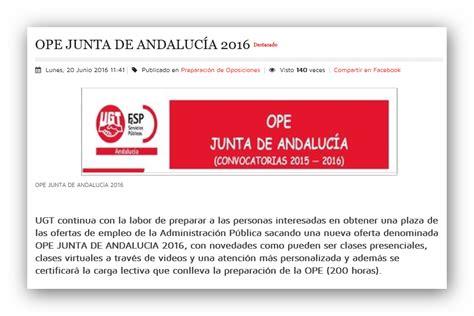 OPE JUNTA DE ANDALUCIA  NO SAS