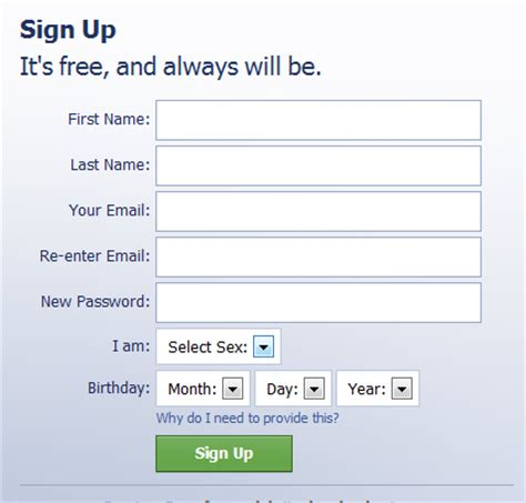 Open a Facebook account | Computer For Dummy