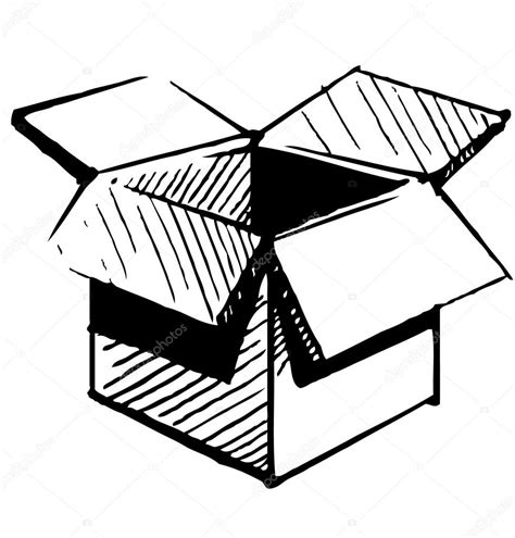 Open Box Drawing | Free download on ClipArtMag
