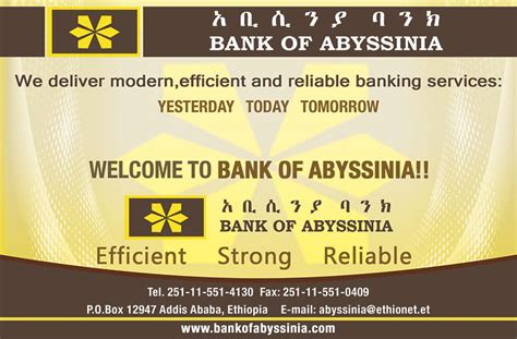 Opening at Bank of Abyssinia | Ethiopian Job Finder