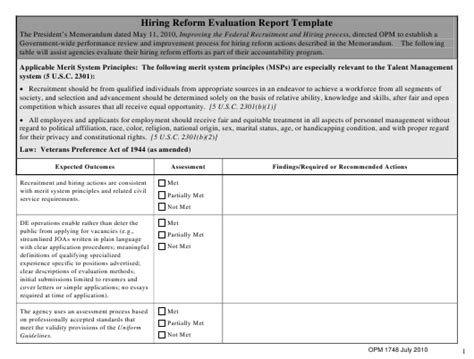 OPM Form 1748 Download Fillable PDF or Fill Online Hiring ...