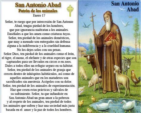 Oración a San Antonio Abad Protector de los Animales ...