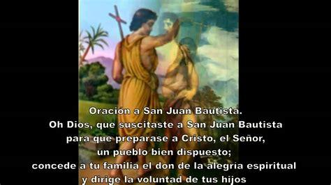 Oración a San Juan Bautista   YouTube