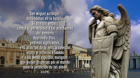 Oración a San Miguel Arcángel   YouTube