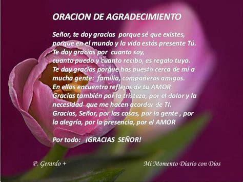 ORACION DE AGRADECIMIENTO   Mi Momento Diario con Dios ...