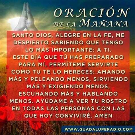 Oración de la Mañana | Oraciones | Pinterest | Religion ...