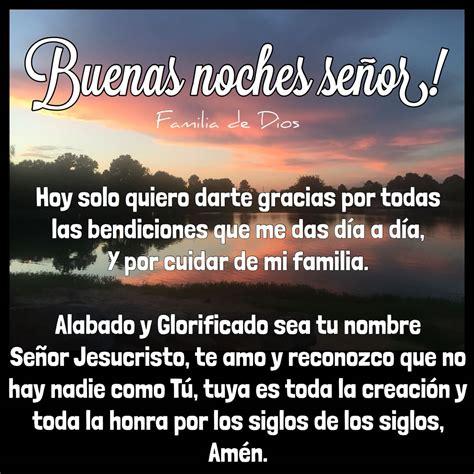 Oración de la noche / Gracias Dios / un nuevo día ...