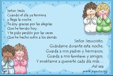 Oración de la noche   Prayers for children, Night prayer ...