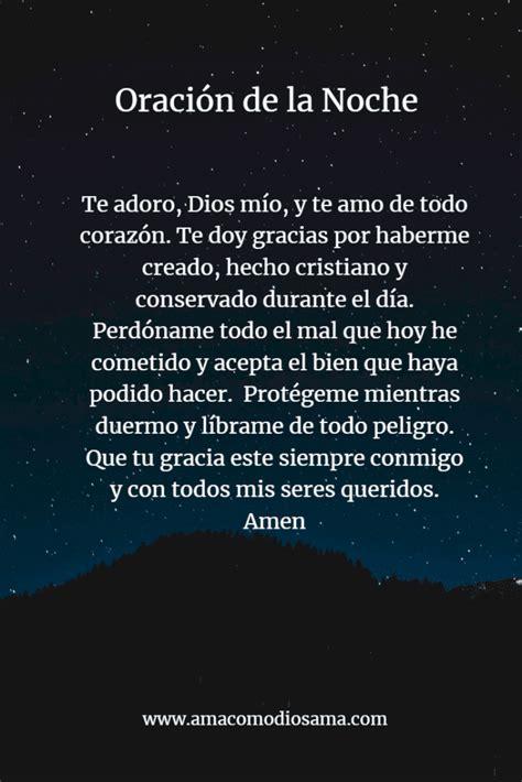 Oración de la Noche – Ama Como Dios Ama