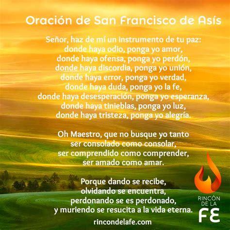 Oración de San Francisco de Asís en inglés   Francisco de Asís