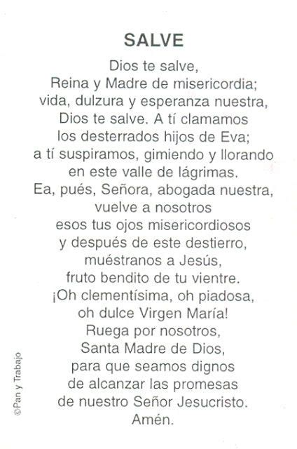 Oración: Salve | Directorio de la Iglesia Católica ...