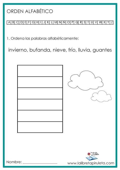 ORDEN ALFABÉTICO, ABECEDARIO, ALFABETO, PRIMARIA, LAS ...