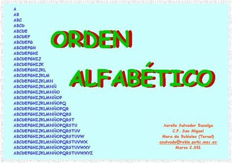 Orden alfabético II » Recursos educativos digitales