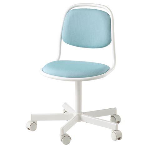 ÖRFJÄLL Silla escritorio niño, blanco, Vissle azul/verde ...