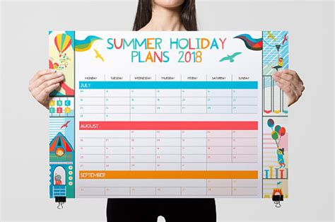 Organise your summer with a colourful summer holiday planner