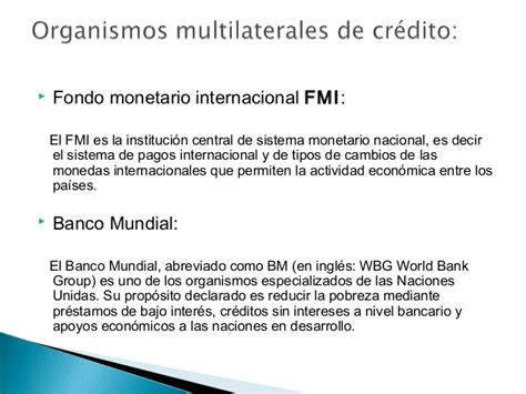 Organismos multilaterales de crédito y su responsabilidad ...