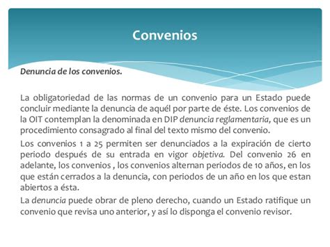 Organización Internacional del Trabajo   OIT
