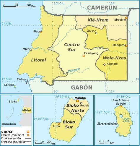 Organización territorial de Guinea Ecuatorial   Wikipedia ...
