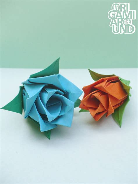 Origami Around — another easy paper rose design I just ...