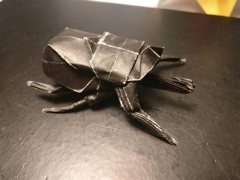 Origami Beetle  Jo Nakashima , folded by me : origami