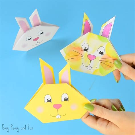 Origami Bunny Tutorial With Printable Template   Easy ...