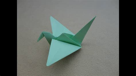 Origami: Crane   Papiroflexia: Grulla   YouTube