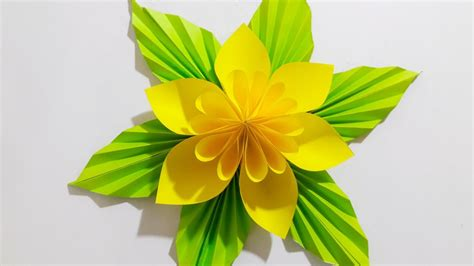 Origami Easy Paper Flower l Very Easy To Make l Paper ...