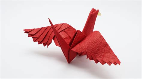 Origami Feathered Crane   Jo Nakashima