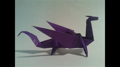 Origami   How to make an easy origami dragon   YouTube