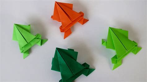 Origami Jumping Frog  Rana Saltarina   YouTube