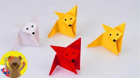 Origami líška   Líška z papiera   Origami pre deti ...