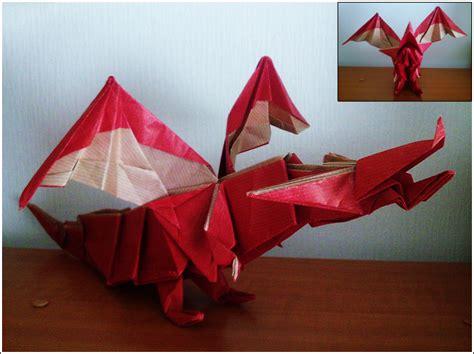 Origami Model: Fiery Dragon by SuperKail on DeviantArt