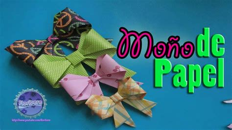 Origami: Moño Lazo de papel//DIY paper Bow   YouTube