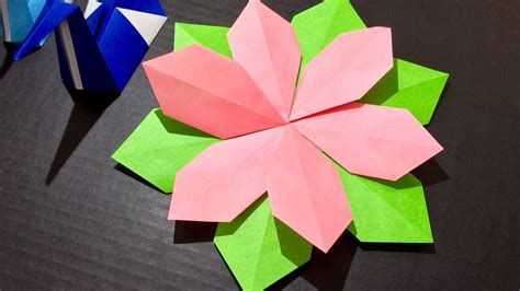 Origami Paper Craft Flower  Tutorial  5 minute quick ...