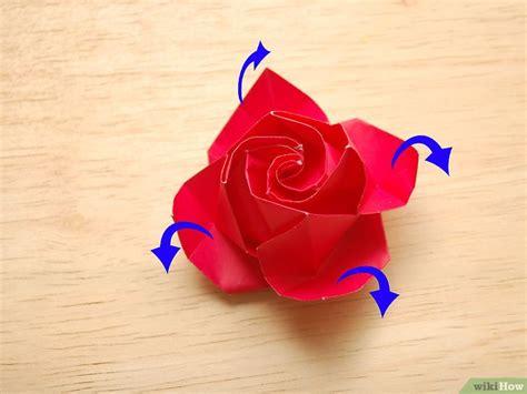 origami rose facile italiano