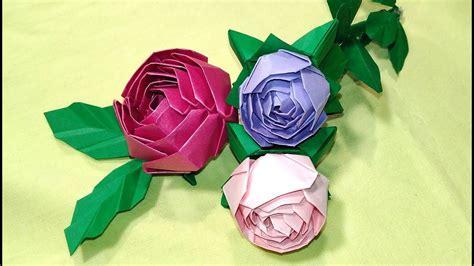 Origami rose  modular . Easy paper rose! Ideas for ...